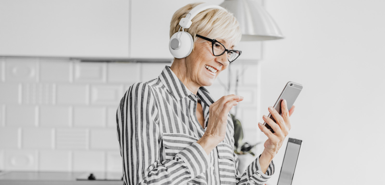 Frau Podcast Handy